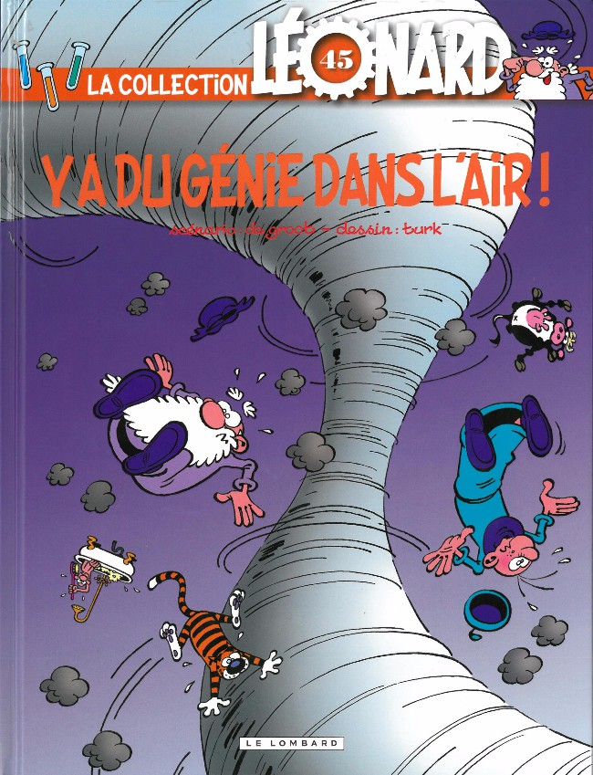 Couverture de Léonard - La Collection (Prisma Media) -4533- Y'a du génie dans l'air !