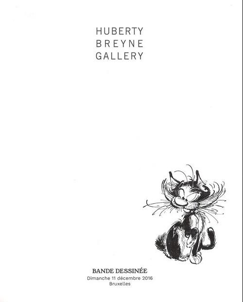 Couverture de (Catalogues) Ventes aux enchères - Divers - Huberty Breyne Gallery - Bandes dessinées - Dimanche 11 décembre 2016 - Bruxelles