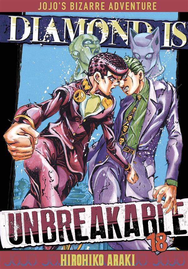 Couverture de Jojo's Bizarre Adventure - Diamond is unbreakable -18- Crazy Diamond is Unbreakable