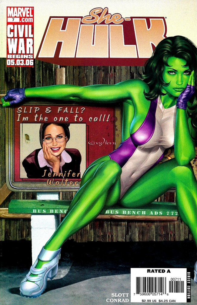 Couverture de She-Hulk (2005) -7- Beus and eros part 2 : Change Of Heart