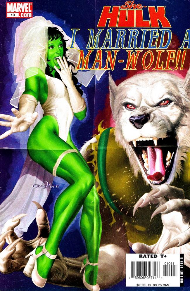 Couverture de She-Hulk (2005) -10- I Married A Man-Wolf