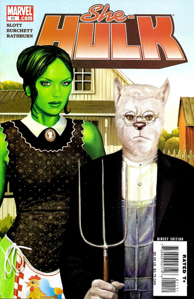 Couverture de She-Hulk (2005) -11- 6 Shots To The Heart