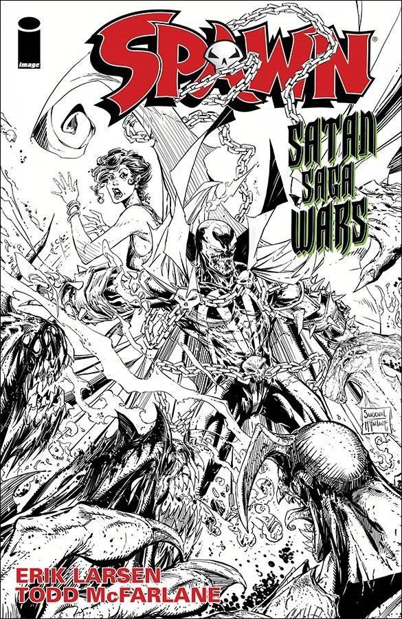 Couverture de Spawn (1992) -259a- Satan Saga Wars Part 1