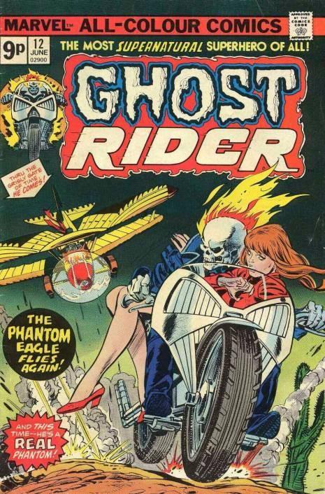 Couverture de Ghost Rider Vol.2 (Marvel comics - 1973) -12- Phantom of the Killer Skies