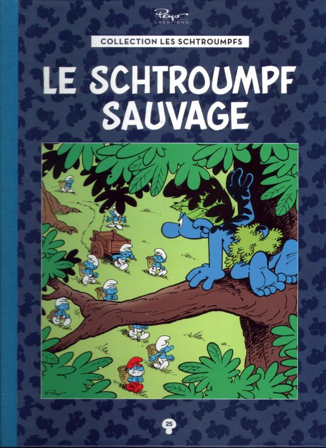 Couverture de Les schtroumpfs - La collection (Hachette) -25- Le Schtroumpf Sauvage