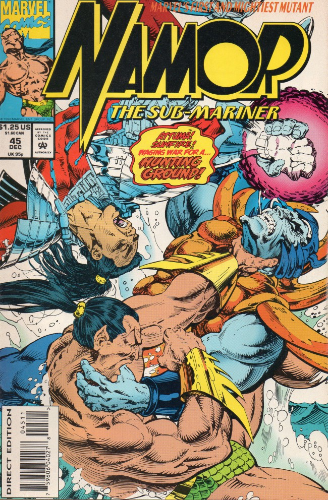 Couverture de Namor, The Sub-Mariner (Marvel - 1990) -45- Hunting Ground