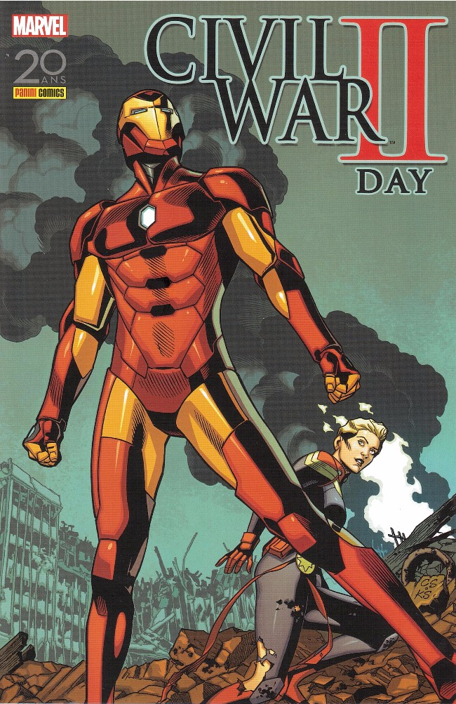 Couverture de Civil War II -HS- Civil War II Day