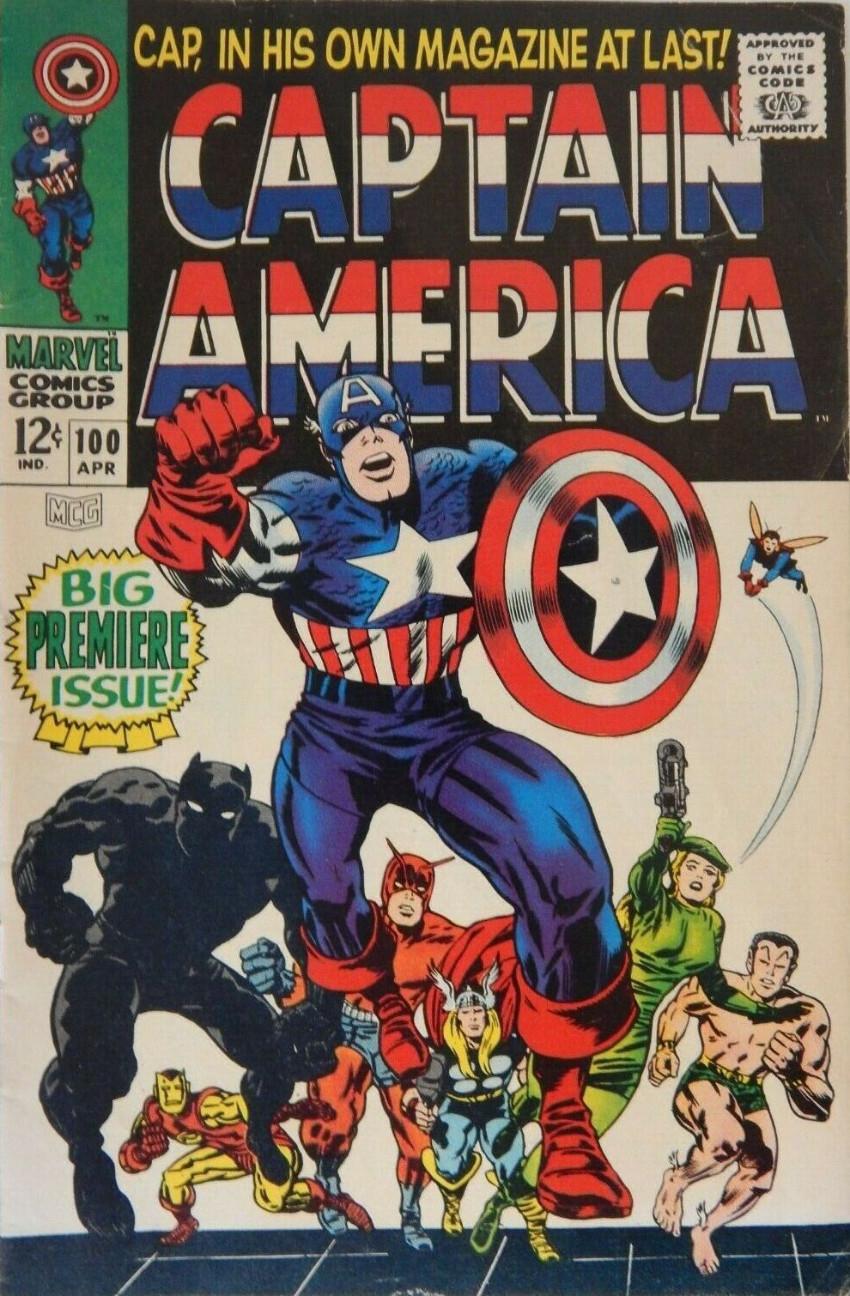 Couverture de Captain America (Marvel comics - 1968) -100- Cap in His Own Magazine at Last !
