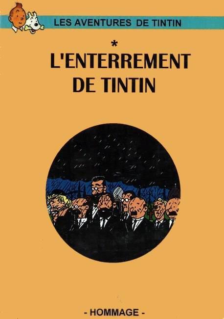 Couverture de Tintin - Pastiches, parodies & pirates - L'enterrement de Tintin
