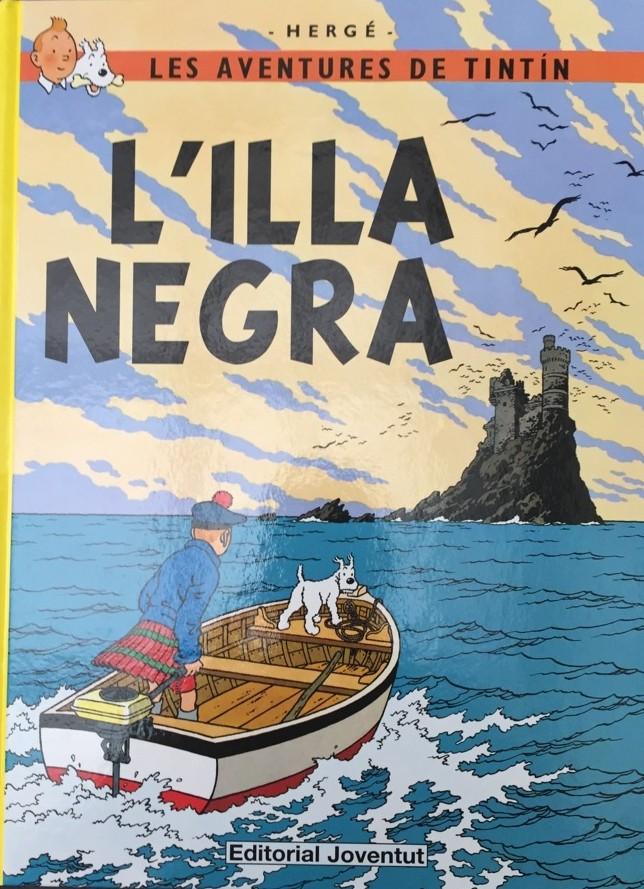 Couverture de Tintin (en langues régionales) -7Catalan- L'illa negra