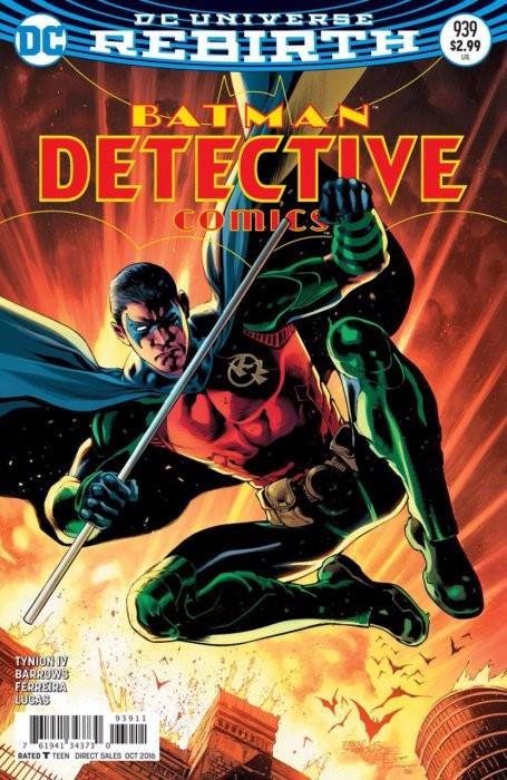 Couverture de Detective Comics (1937) -939- Rise of the Batmen Part Six: The Thin Red Line