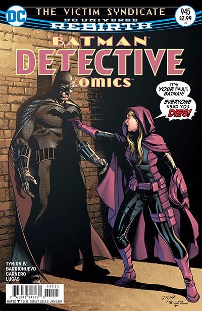 Couverture de Detective Comics (1937) -945- The Victim Syndicate: Part Three: Unforgiven