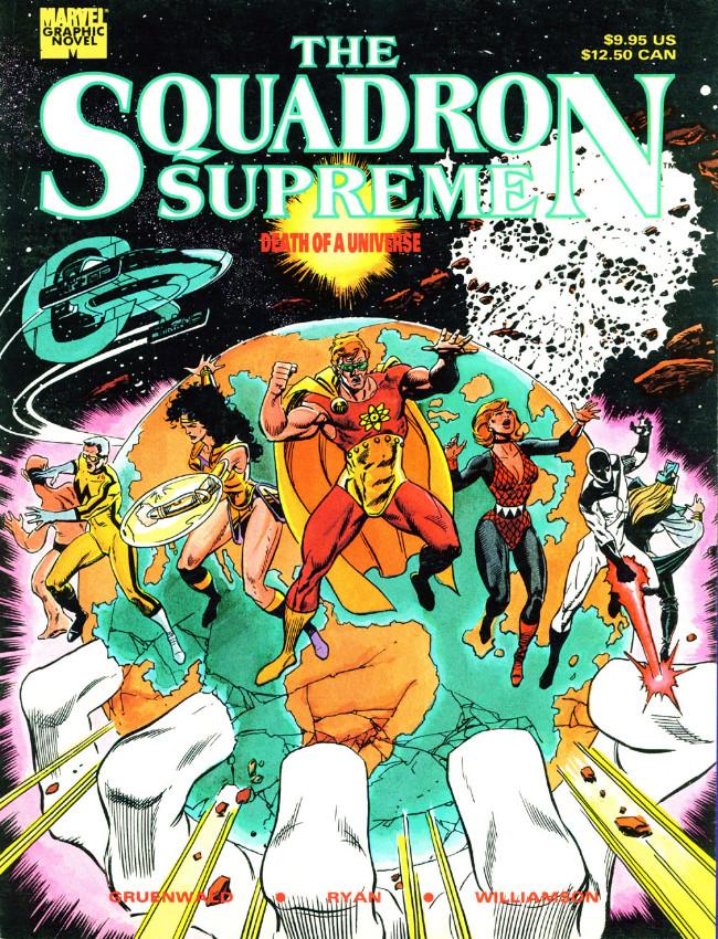 Couverture de Marvel Graphic Novel (Marvel comics - 1982) -55- Squadron Supreme: Death of a Universe