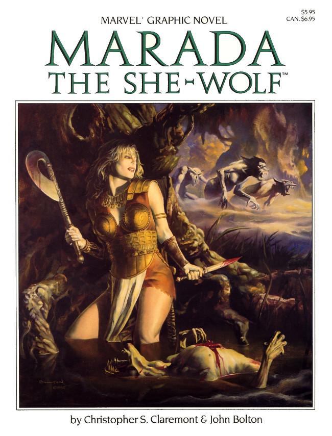 Couverture de Marvel Graphic Novel (Marvel comics - 1982) -21- Marada the She-Wolf