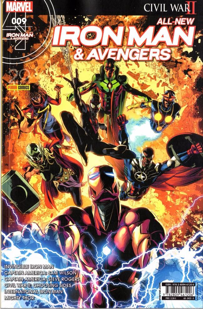 Couverture de All-New Iron Man & Avengers -9-  Attrape-moi si tu peux