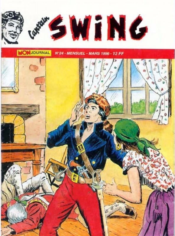 Couverture de Capt'ain Swing! (2e série - Mon Journal) -24- Kaï Kaï Kaï ! Pouik tombe sur un bec !
