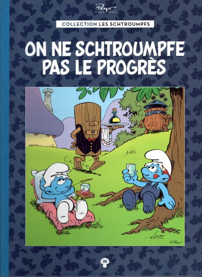 Couverture de Les schtroumpfs - La collection (Hachette) -28- On ne schtroumpfe pas le progrès