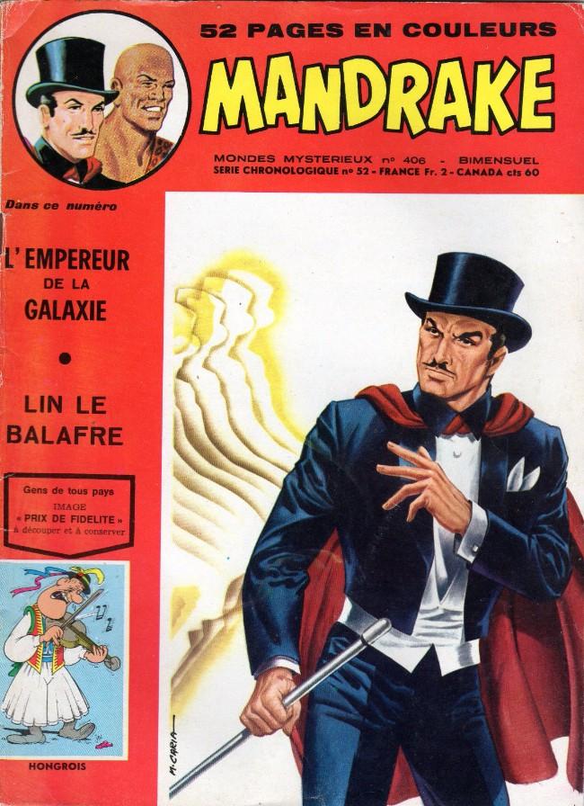 Couverture de Mandrake (1re Série - Remparts) (Mondes Mystérieux - 1) -406- L'empereur de la galaxie