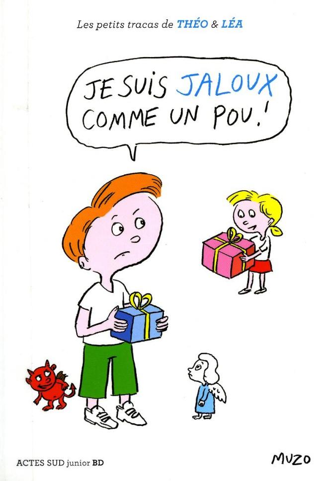 Couverture de Les petits tracas de Théo & Léa -2- Je suis jaloux comme un pou !