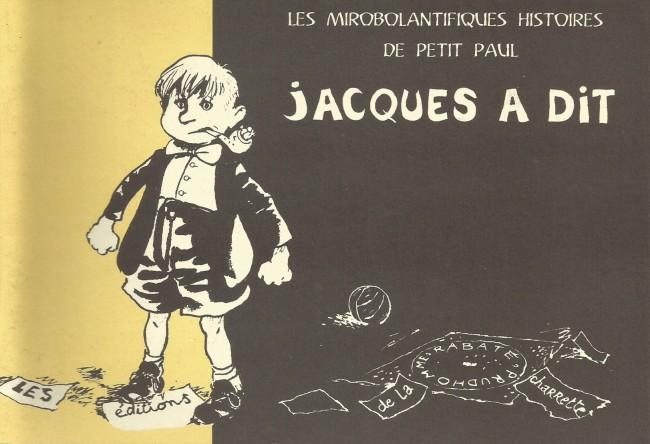 Couverture de Les mirobolantifiques Histoires de Petit Paul - Jacques a dit