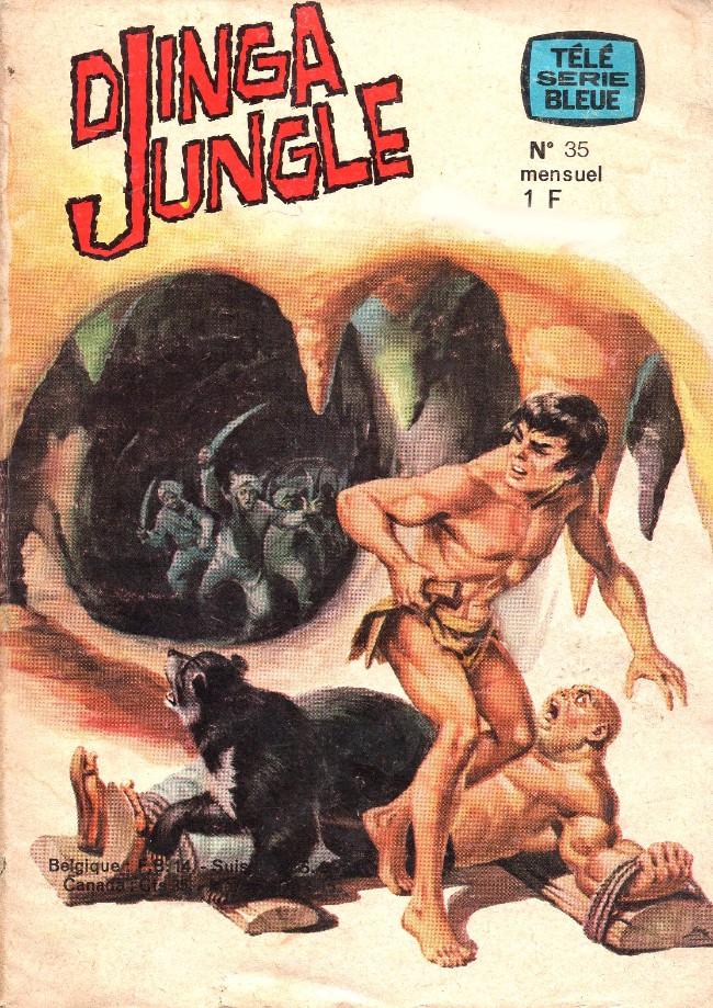 Couverture de Télé série bleue (Les hommes volants, Destination Danger, etc.) -35- Djingla Jungle : L'idole aux trois yeux