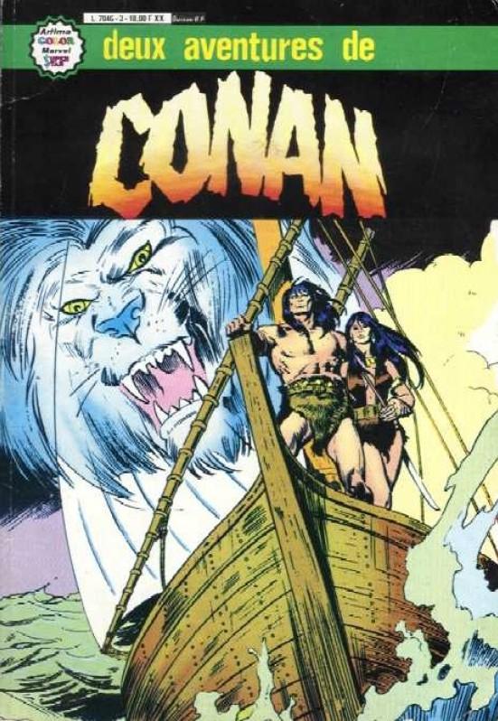Couverture de Conan le barbare (1re série - Aredit - Artima Marvel Color) -Rec05- Album N°3 (n°9 et n°10)