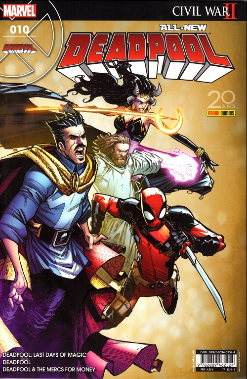 Couverture de All-New Deadpool -10- Le crépuscule de la magie