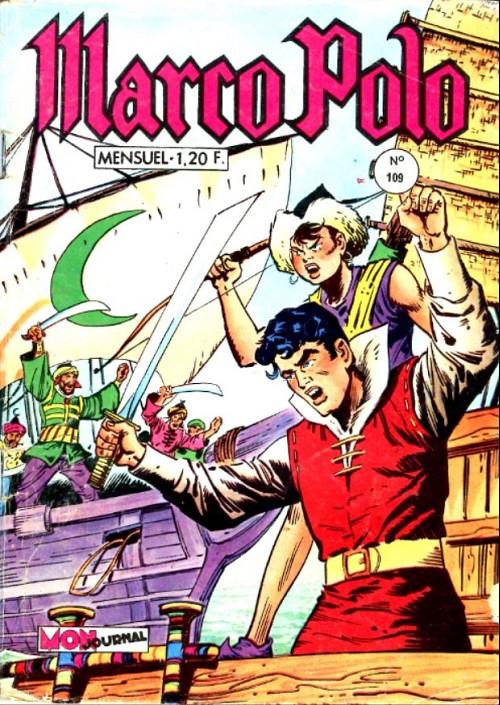 Couverture de Marco Polo (Dorian, puis Marco Polo) (Mon Journal) -109- Les négriers d'ormuz