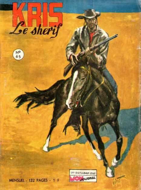 Couverture de Kris le shériff -65- Les pirates de la lune verte