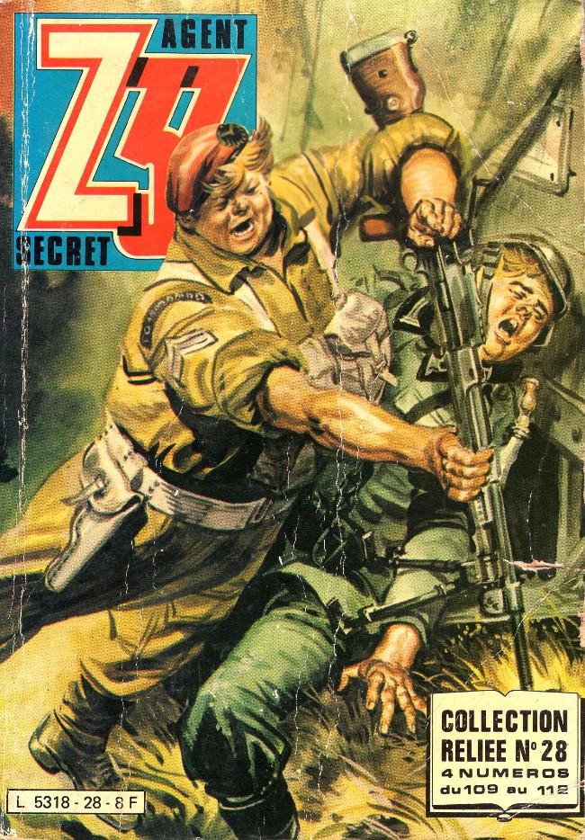 Couverture de Z33 agent secret -Rec28- Collection reliée N°28 (du n°109 au n°112)