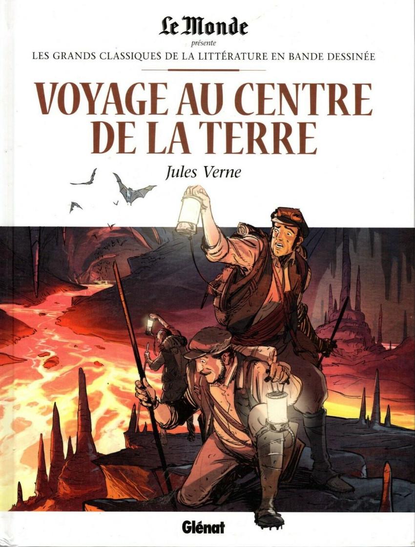 Couverture de Les grands Classiques de la littérature en bande dessinée (Glénat/Le Monde) -5- Voyage au Centre de la Terre