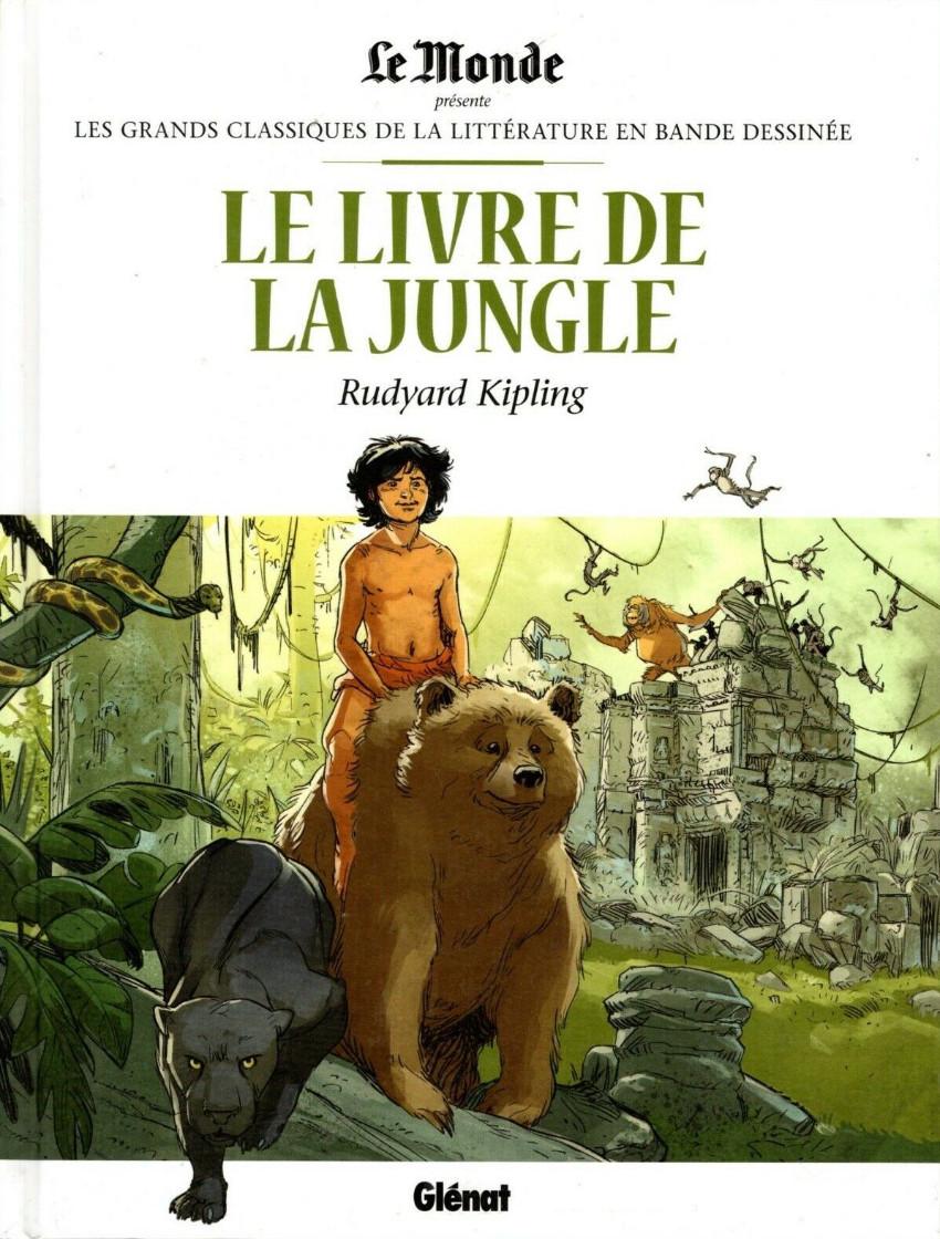 Couverture de Les grands Classiques de la littérature en bande dessinée -6- Le Livre de la Jungle