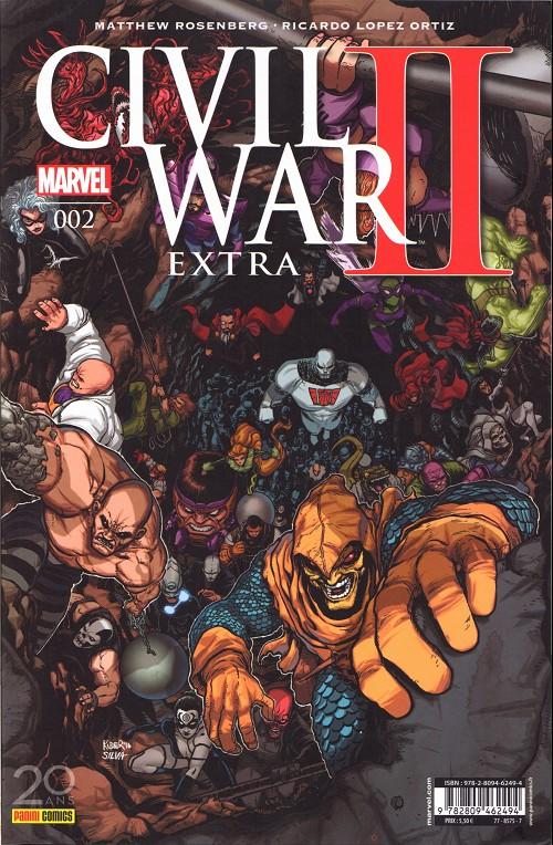 Couverture de Civil War II Extra -2- Tome 02