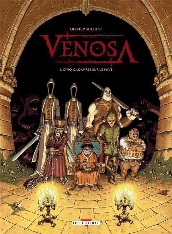 Couverture de Venosa -1- Cinq cadavres sur le pavé