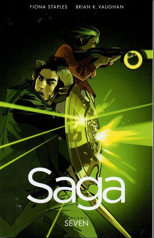 Couverture de Saga (Image comics - 2012) -INT07- Saga - Volume Seven