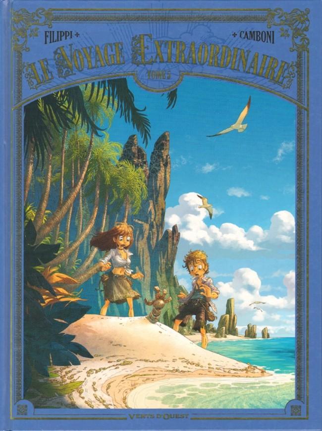 Couverture de Le voyage Extraordinaire -5- Tome 5 - Les Îles mystérieuses - 2/3