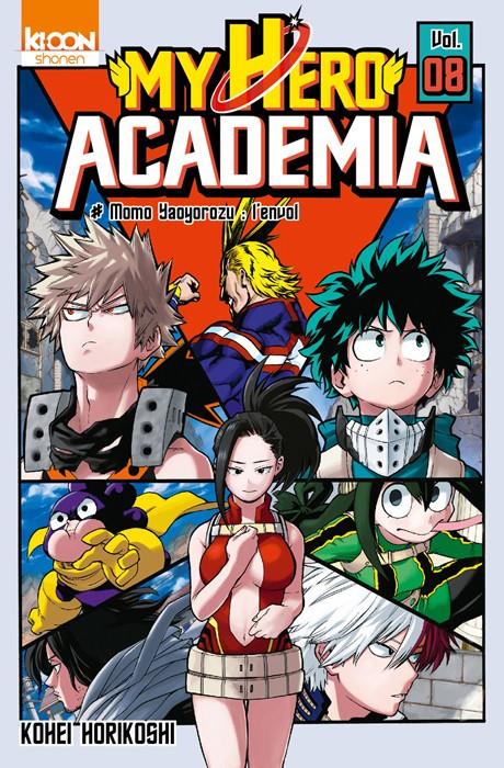 Couverture de My Hero Academia -8- Momo Yaoyorozu : l'envol