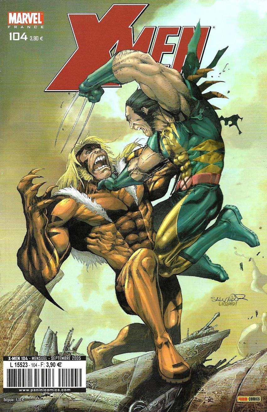 Couverture de X-Men (Marvel France 1re série) -104- Héros et vilains