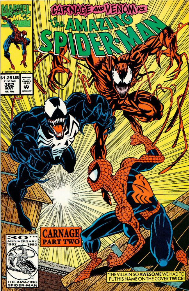 Couverture de The amazing Spider-Man Vol.1 (Marvel comics - 1963) -362- Carnage Part Two