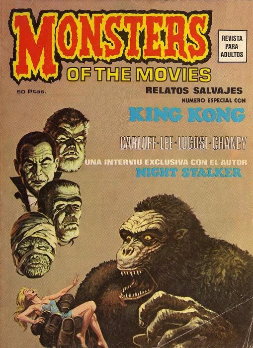 Couverture de Relatos salvages (Vol.1) -1- Monsters of the Movies: Número Especial con King Kong