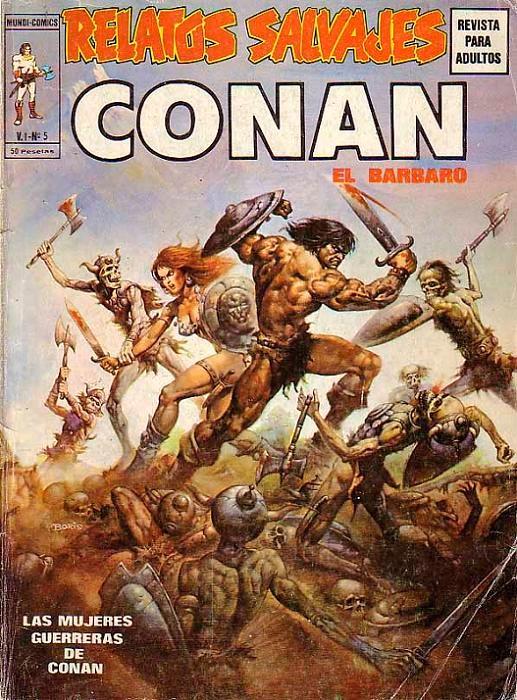 Couverture de Relatos salvages (Vol.1) -5- Las Mujeres Guerreras de Conan