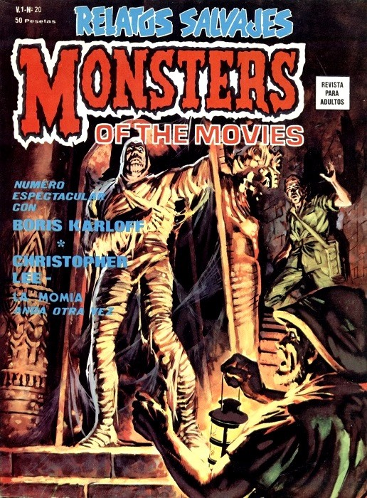Couverture de Relatos salvages (Vol.1) -20- Monsters of the Movies: La Momia Anda Otra Vez