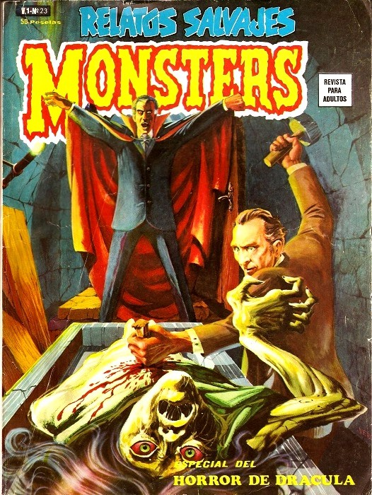 Couverture de Relatos salvages (Vol.1) -23- Monsters: Especial del Horror de Drácula