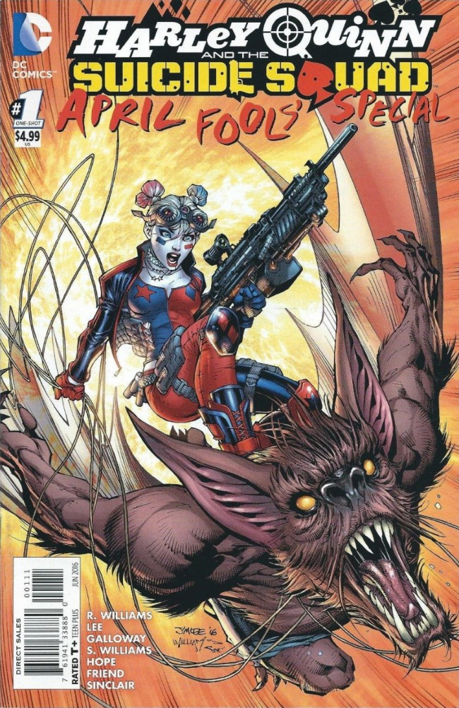 Couverture de Harley Quinn and the Suicide Squad (2016) - April Fool's Special: Evil Anonymous