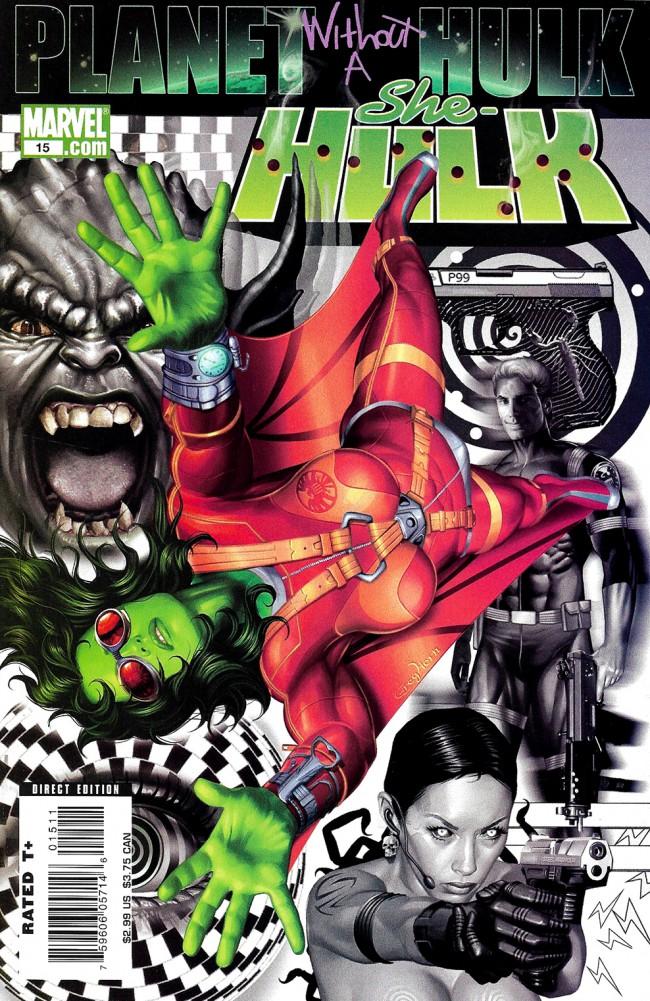 Couverture de She-Hulk (2005) -15- Planet Without A Hulk: Part 1 of 4