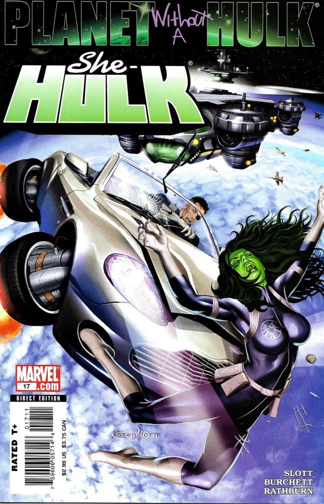Couverture de She-Hulk (2005) -17- Planet Without A Hulk: Part 3 of 4