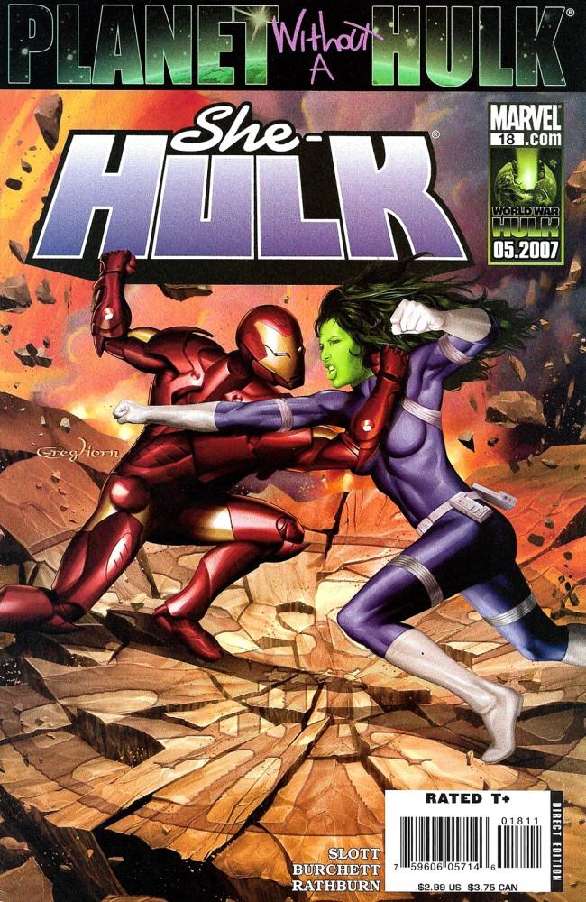 Couverture de She-Hulk (2005) -18- Planet Without A Hulk: Part 4 of 4