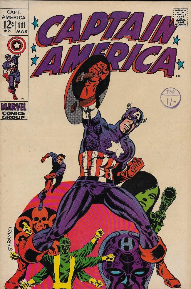 Couverture de Captain America (1968) -111- Tomorrow you Live, Tonight I Die