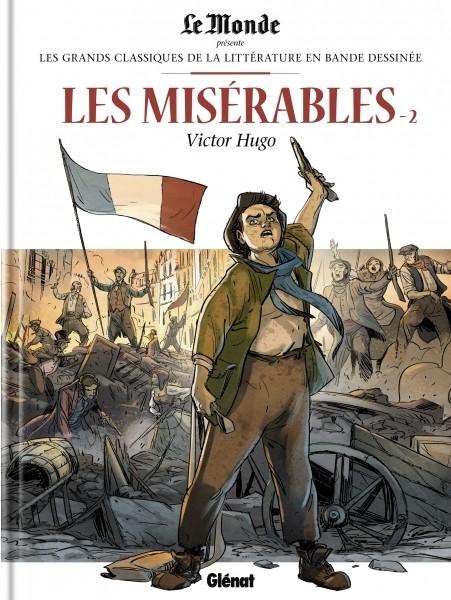 Couverture de Les grands Classiques de la littérature en bande dessinée -9- Les Misérables - 2