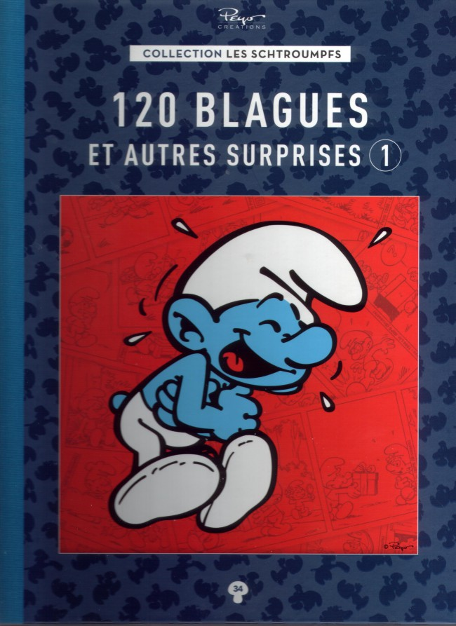 Couverture de Les schtroumpfs - La collection (Hachette) -34- 120 blagues et autres surprises 1